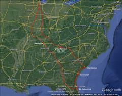 Trip Itinerary (ugeiser) Tags: georgia illinois florida tennessee kentucky maps southcarolina indiana northcarolina