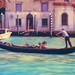 Digital Pastel Drawing of a Gondola on the Grand Canal in Venice by Charles W. Bailey, Jr.