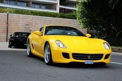 Ferrari 599GTB and Camaro (MonacoFreak) Tags: black chevrolet yellow top ferrari montecarlo monaco camaro gto marques gtb 2015 599 topmarques