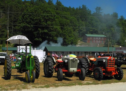Tractors on parade