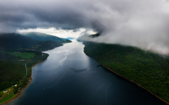 Norwegian fjords (explored) (strupert) Tags: mk43b seaking 1424mm nikon navigation backseatview aerial summer rain fjords trndelag trondheim cloudy