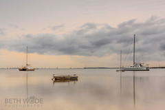 Home is Where the Anchor Drops - Explored 18/07/16 (Beth Wode Photography) Tags: morning seagulls clouds reflections boats beth overcast masts redlands catamarans tinnie overcastskies victoriapoint wode bethwode