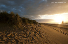 Golden Dunes, North Wales (Daryl 1988) Tags: sunset sunsetlight light northwales wales seaside lighthouse sand dunes coast beach flintshire sundown golden beautiful landscape seascape holiday sky cloud amazing