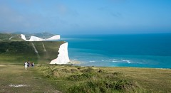 Seven Sisters Cliffs (Koupal D) Tags: sevensisters sussex cliffs sevensisterscliffs hiking bluesky blue green grass people 50mmf18g nikond610 nikkor nikon water waterfront white sea uk england landscape summer nature hills cliff scogliera mare blu دریا انگلیس سخره آبی آب آسمان coastal acantilado mar azul southdownsnationalpark