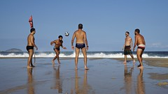 Footvolley at Leme beach (alobos Life) Tags: footvolley sport futbol ball sand arena boys guys garotos friends amigos cute nice beautiful sunga speedo boy water beach playa funny enjoying rio de janeiro brasil brazil have fun outdoors candid brazilian blue azul brasileo futevolei 2016 leme
