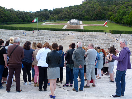 Monte Cassino - the Polish cemetery.singing the poppies of cassino