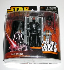 darth vader rebuild darth vader star wars revenge of the sith deluxe action figures 2005 hasbro mosc a (tjparkside) Tags: star wars revenge sith rots collection darth vader rebuild anakin skywalker operating table 2005 ep episode 3 iii three helmet mask lightsaber hilt lightsabers hilts breathing chest box removable boot boots arm arms mechanical medical droid deluxe assortment action figure figures hand hands cape emperor palpatine part man machine vaders attach piece pieces swivel swivels mosc