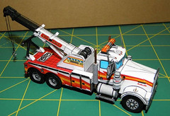 Kenworth W900 Wrecker Tow Truck Free Vehicle Paper Model Download (PapercraftSquare) Tags: truck towtruck 1100 kenworth w900 kenworthw900 vehiclepapermodel kenworthw900wrecker