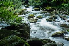 Walk Lynton to Watersmeet E7120249_05 (tony.rummery) Tags: longexposure england water rock river rocks stream unitedkingdom somerset olympus gb omd watersmeet lynton em10 mft microfourthirds northdevondistrict