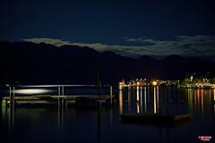 By The Light of the Silvery Moon (MBates Foto) Tags: dusk water blue dock kelowna canada lakeokanagan lakes longexsposure nikon nikond810 night moonlight britishcolumbia