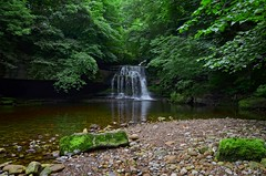 Cauldron Falls (amhjp) Tags: yorkshiredales yorkshire england english british britain landscape landmark dales waterfalls cauldronfalls westburtonfalls amhjpphotography amhjp nikon nikondslr nikond7000 outdoors countryside countrypark historical historic history heritage