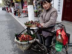 fruit vendor (-{ ThusOriginal }-) Tags: 2009 china color digital grd3 grdiii people ricoh street suzhou thusihaveseen winter