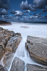 Night Seascape (renatonovi1) Tags: night moon sea ocean wave rocks clouds seascap landscape beach maroubra sydney nsw australia longexposure