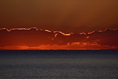 Clouds and kayak (nealemaynard) Tags: sunrise kayak ocean dawn moretonbay australia boats