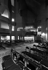 IMG_3838bw Neviges Pilgrimage Church by Gottfried Bhm (marklarmuseau) Tags: nevigespilgrimagechurch wallfahrtskirchemariendom velbert nrw germany pritzkerprizelaureate1986 gottfriedbhm
