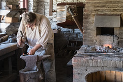 Pounding Nails 1s.jpg (Greg Riekens) Tags: usa iron historic fortsnelling history stpaul blacksmith work minnesota