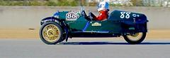 1934 Morgan Trike Racer (fossiled) Tags: morgan morgan3wheeler morgantrike 3wheeler trike green racer racing track speed convertible british