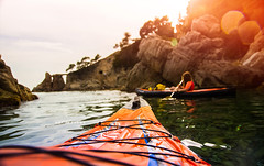 Kayaking. (arturii!) Tags: wow amazing awesome superb interesting stunning impressive nice beauty great arturii arturdebattk canonoes6d gettyimages travel trip tour route viatge holidays vacations kayak nature outdoor seascape mediterranean sea sport kayaking pov pointofview sunset people summer costabrava rowing light shoreline coast catalonia catalunya catalu europe spain cool visual canon6d