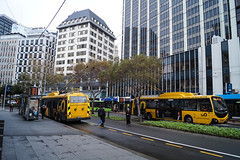 Lambton Quay (andrewsurgenor) Tags: transit transport publictransport nzbus gowellington electric trackless trolleybus trolleybuses wellington nz streetscenes bus buses omnibus yellow obus busse citytransport city urban newzealand