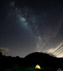 Camping down stars (juansebastianmaldonado) Tags: roja camping stars milkyway tent longexposure sky night carpa estrellas valactea