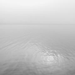 (Raumstation) Tags: blackandwhite landscape lake water reflection mist