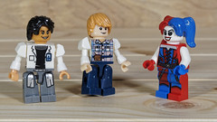 Harley thinks these guys are cute - seems the Joker may have some competition (Busted.Knuckles) Tags: home toys lego miniature harleyquinn minifigures olympusomdm10mkii dxoopticspro11