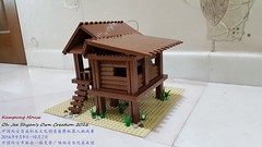 Kampung House 1 Side View 2 (Oh Jee Shyan) Tags: building village kampung malays malaysia lego