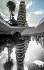 Callao, Madrid (OCNaftanaila) Tags: reflexion madrid spain callao mirror sky byke canon inverse