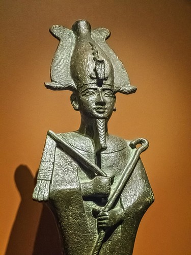 Closeup of Bronze Figurine of Osiris Egypt 26th Dynasty - Ptolemaic Dynasty Late Period - Ptolemaic Period 664-32 BCE