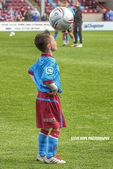 Scunthorpe United mascot v Sheffield United 2016 (SteveH1972) Tags: canon70200 70200 football soccer mascot footy scunthorpeunited scunny iron 2016 northlincolnshire northernengland britain boy lad outside outdoors outdoor united