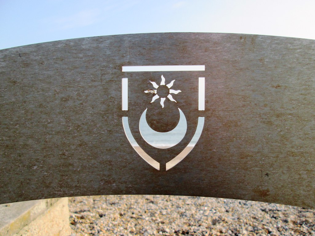 Portsmouth Star and Crescent on Eastney Beach 1