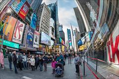 Time Square II (W.MAURER foto) Tags: city newyork manhattan timesquare nikon16mmfisheye club16 nikond800