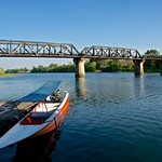 The infamous Bridge over the River Kwae in Muang Kanchanaburi, Thailand thumbnail