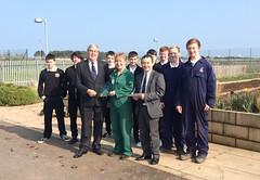 Photo of Eyemouth HS award presentation with Ray Jones