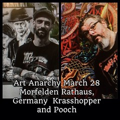 Super excited to show my work with my buddy Peter Klein from Skin Art Tattoo, Morfelden at the city hall...@skinarttattoo2 #artanarchy #poochart
