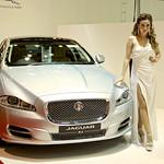 Jaguar XJ with sexy presenter at the 36th Bangkok International Motor Show thumbnail
