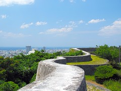 Shuri Castle (Eiji Anzai) Tags: travel blue summer vacation sky tourism nature beautiful grass japan clouds relax landscape asian island photography japanese countryside scenery asia day view natural outdoor south country peak sunny nobody tourist southern tropical  destination nippon okinawa traveling  ryukyu okinawan