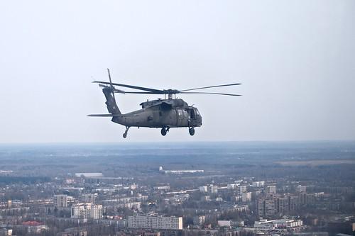 Black Hawk flight over Riga