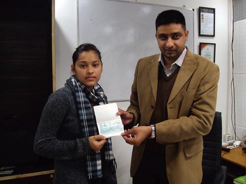 Gurstinder Kaur Receiving New Zealand Study Visa From Director