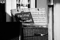 Still chilly!! (judy dean) Tags: blackandwhite garden pub explore blanket chilly 2015 judydean sonya6000