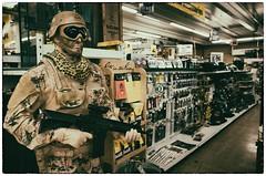 Military Mannequin (La Chachalaca Fotografa) Tags: camp mannequin oregon soldier hardware store gun military helmet camouflage weapon gr lifesize ricoh autoparts sportinggoods
