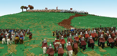 14th October 1066 - A hill near Hastings (Invicta Bricks) Tags: hastings normans saxons 1066 battleofhastings lego bricktothepast