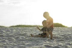 Brothers on the Beach (Phillip Haumesser Photography) Tags: playing beach boys kids children fun sand florida pensacolabeach fortpickens pensacolabay philliphaumesser