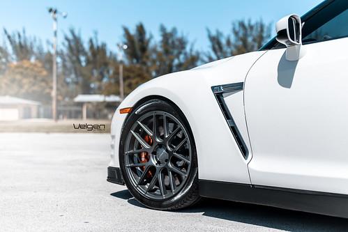 Nissan Gt R On Velgen Wheels Vmb7 Matte Gunmetal 20x9