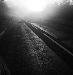 Early sun - wet roads............no problem (Greta Powell) Tags: sonyxperia sony mobilephone photography cameras spring roads cars sunshine instagram mornings springtime blackandwhite composition