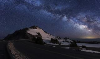 Crater Lake NP at Night .