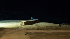 * (Timos L) Tags: person man street life night nightshot sea cellphone pokemon go alone texting greece summer hellas m43 olympus omd em5ii panasonic leica summilux 2514 timosl