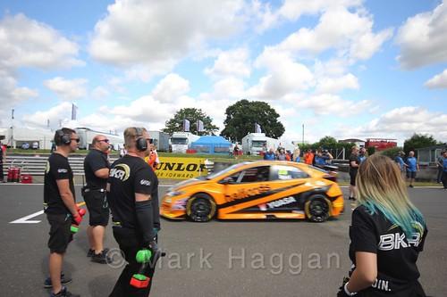 Matt Neal's car during the Grid Walks at the BTCC 2016 Weekend at Snetterton