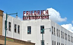 Friedrich Refrigerators (Rob Sneed) Tags: texas sanantonio friedrichrefrigerators appliances factory commercial historic refrigerators manufacturing complex commercest eastside nationalregisterofhistoricplaces forsale friedrichcomplex sign vintage household business