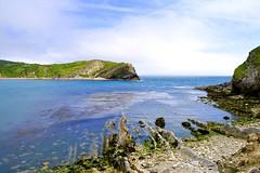 Lulworth Cove (rustyruth1959) Tags: blue sea sky beach water clouds coast nikon rocks outdoor cove cliffs dorset nikkor lulworth lulworthcove nikond3200